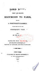 Lord D S First And Second Excursion To Paris Being A Fortnight S Ramble