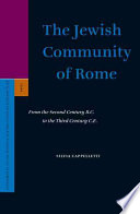 The Jewish community of Rome  electronic resource