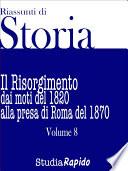 Riassunti di Storia   Volume 8
