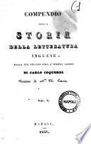 Compendio della storia della letteratura inglese dalla sua origine sino a  nostri giorni di Carlo Coquerel