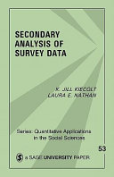 Secondary Analysis of Survey Data