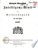 Königlich Bayerisches Intelligenzblatt von Niederbayern
