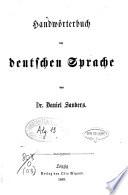 Handwoerterbuch der deutschen Sprache