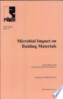 PRO 34  International RILEM Conference on Microbial Impact on Building Materials