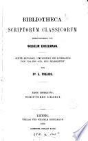 Bibliotheca scriptorum classicorum: Scriptores Graeci (1880)