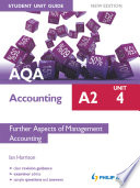 Aqa Accounting A2 Student Unit Guide Unit 4 New Edition Further Aspects Of Management Accounting Epub