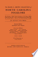 The Frank C. Brown Collection of NC Folklore Pdf/ePub eBook