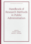 Handbook of Research Methods in Public Administration, Second Edition
