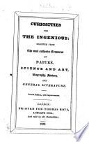 Curiosities for the Ingenious