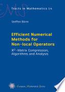 Efficient Numerical Methods For Non Local Operators book