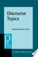 Discourse Topics