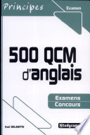 500 QCM d anglais