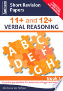 Anthem Short Revision Papers 11  and 12  Verbal Reasoning