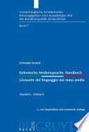 Italienische Mediensprache. Handbuch / Glossario del linguaggio dei mass media