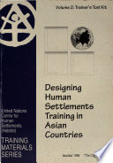 Designing Human Settlements Training in Asian Countries: Trainer's tool kit