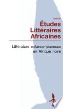 Litt  rature enfance jeunesse en Afrique noire