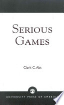 Serious Games book