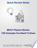 MCAT Review  150 Physics Concepts You Need To Know
