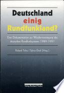 Deutschland einig Rundfunkland?