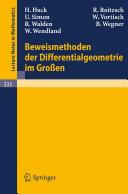 Beweismethoden der Differentialgeometrie im Großen