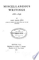 Reviews Miscellaneous Writings, 1883-1896