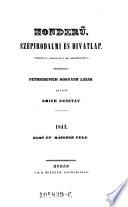 Honderü. Szépirodalmi és Divatlap. Szerk. Petrichevich Horváth Lázár
