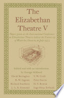 The Elizabethan Theatre V Book PDF