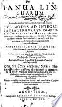 Ianua Linguarum silinguis