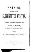 Slovak catalogues