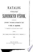 Slovak catalogues