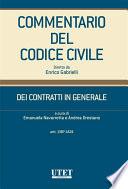 DEI CONTRATTI IN GENERALE (artt.1387-1424)