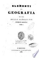 Elementi di geografia ad uso delle scuole pie