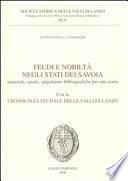 Feudi e nobiltà negli stati dei Savoia