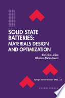 Solid State Batteries  Materials Design and Optimization