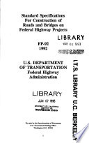 Standard Specifications For Construction Of Roads And Bridges On Federal Highway Projects Fp