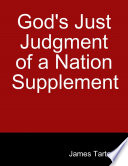 God S Just Judgment Of A Nation Supplement