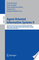Agent Oriented Information Systems II