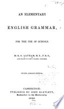 An Elementary English Grammar