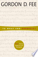 To what End Exegesis