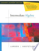 Intermediate Algebra  Student Support Edition