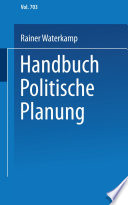 Handbuch politische Planung