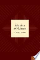 Altruism in Humans