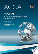 Acca P5 Advanced Performance Management Study Text 2013