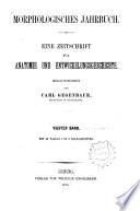 Gegenbaurs morphologisches Jahrbuch