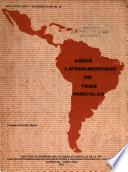 Indice Latinoamericano De Tesis Agricolas