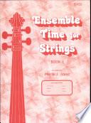 Ensemble Time for Strings Book 1