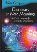 Dictionary Of Word Meanings book