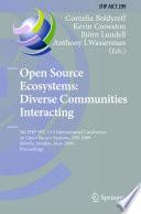 Open Source Ecosystems Diverse Communities Interacting