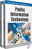 Handbook of Research on Public Information Technology Toward The Rapidly Increasing Use Of Information Technology
