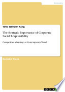 The Strategic Importance of Corporate Social Responsibility